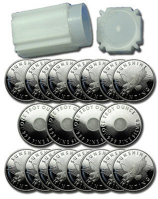 Sunshine Minting 1 Troy Oz .999 Fine Silver Round - (Roll of 20 Rounds) SKU27201