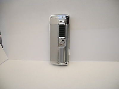 Colibri Silvertone Torch Flame Magnate Lighter New !
