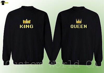 Couple Crewneck - New Design King & Queen - His and Hers Couple Matching Sweater
