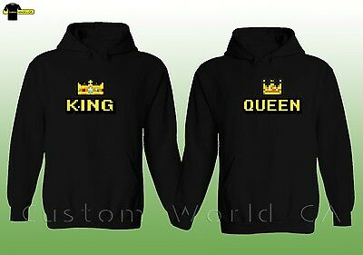 Couple Hoodie - King & Queen His and Hers - New Design Couple Matching Hoodie