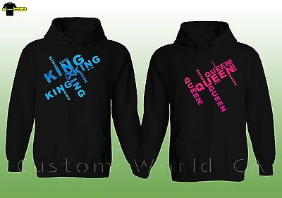 Couple Hoodie - NEW King & Queen - His and Hers Couple Matching Sweatshirts