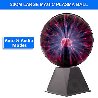 20cm Large Plasma Ball 8 inch Lamp Millennium Thunder Ball Brand New