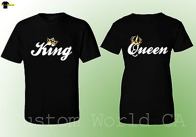Couple Matching Love T-Shirts - King & Queen - His and Hers New Design Tees