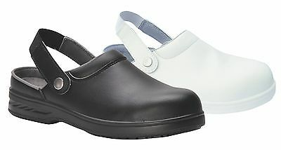 Safety Clog Shoes Anti Slip Resistant For Catering Kitchen Hospital