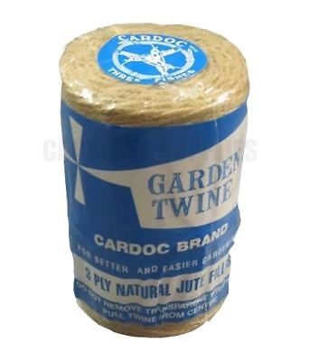 Cardoc Spool Natural Jute Fillis Garden String Twine - 3Ply 200Gm