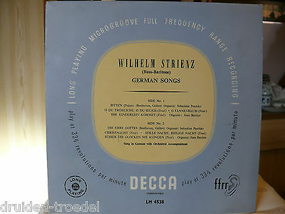 Wilhelm Strienz ‎– German Songs