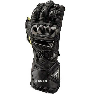 Racer High Racer Black Motorcycle Motorbike Sports Racing Gloves | All Sizes