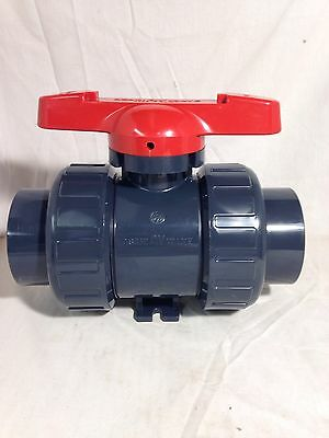 "New ASAHI DUO BLOC 21  2-1/2"" PVC SOCKET BALL VALVE 1606025"