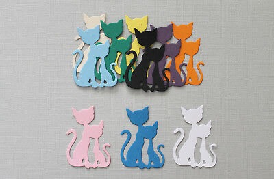 15PC - French Cats Paper Die Cuts Scrapbooking - NOT a DIE