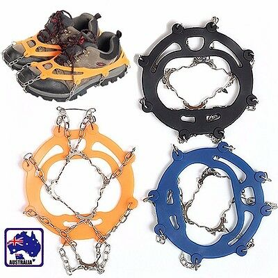 10-Teeth Climbing Boot Shoe Cover Spike Cleats Crampons Ice Snow Gripper OFISH67