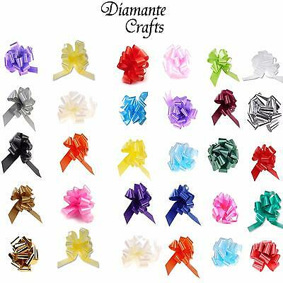 30mm Pull Bows - Medium Wedding Car Gift Wrap Decoration Floristry - 26 Colours