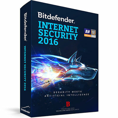 Bitdefender Internet Security 2016 - 3 PC | 1 Jahr - plus Upgrade auf 2017 / ESD