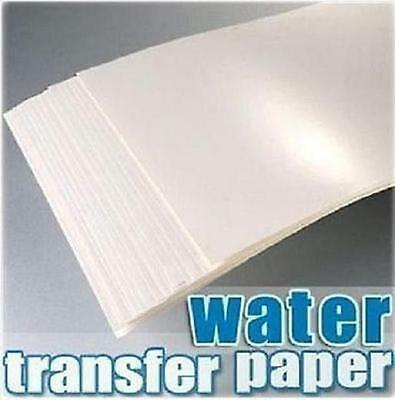 (Transparent) A4 Inkjet Light Water Transfer Paper for Cup Decal Craft DIY