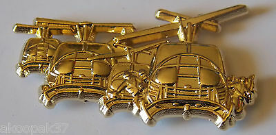 Huey Assault Heli Landing Gold Plated Badge 60Mm Long With 2 Pins Sky Soldiers