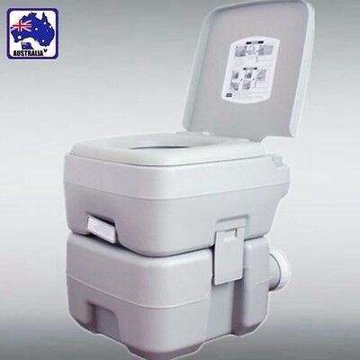 20L Portable Flush Toilet Loo w/ Water Tank Vehicle Outdoor Camping VHTOI 3520