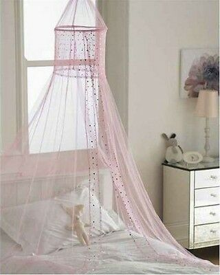 Popsicle PINK Voile Bed Canopy
