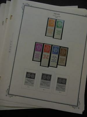 ISRAEL : Beautiful VF, MNH collection on album pages almost complete 1948-1952.