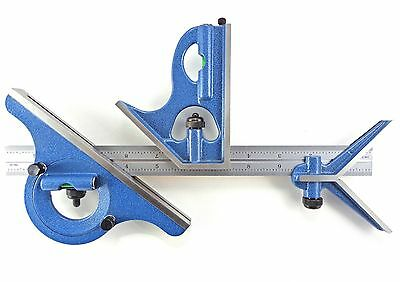 "Blem Cosmetic Second PEC 18"" 16R 4 pc combination machinist square protractor"