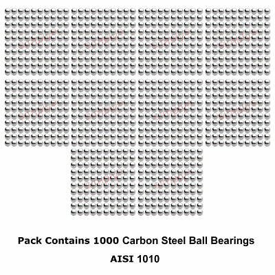 2mm Diameter Grade 1000 Hardened 1010 Carbon Steel Ball Bearings