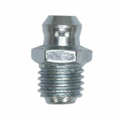 Sealey GNM21 Grease Nipple Straight 8 x 1.25mm Pack of 25