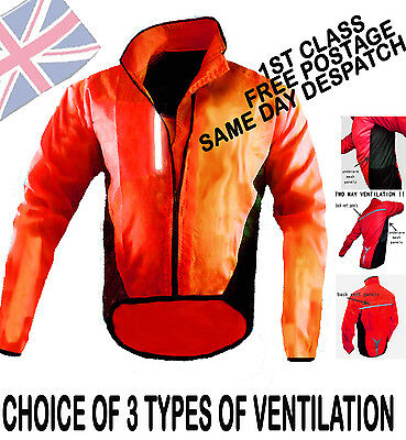 Cycling Jacket Highly Visibility /hi Viz Waterproof/breathable Running Riding !!