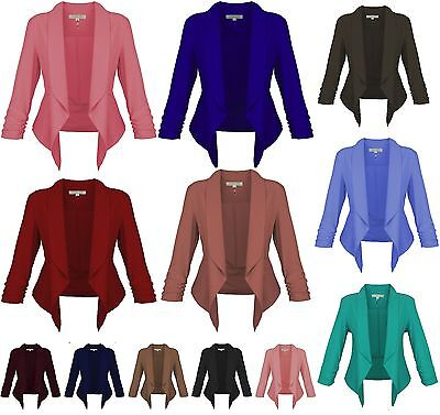 Cest Toi New Womens Jacket Open Front Color Thin Blazer Big Sizes 1XL to 3XL