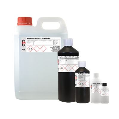 Hydrogen Peroxide 12% FOOD GRADE  100ml, 250ml,500ml,1 Litre ,5L *OFFER*