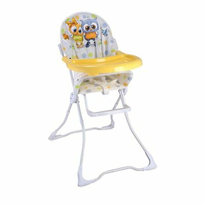 New Baby Feeding High Chair Seat Pink Kitten Foldable Child Infant Girl