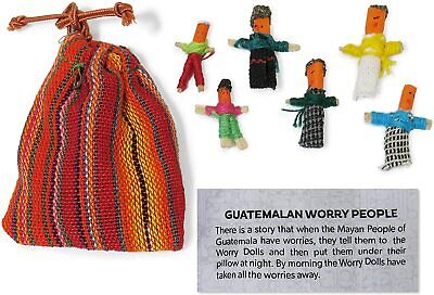 Worry Dolls - Set of 6 in a colorful bag