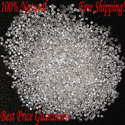 REAL 100% NATURAL Loose 100 Round Diamonds Clarity-I1-I3 Color-G-H White Free SH