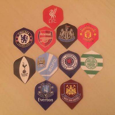 Set of 3 Official Licensed Football Dart Flights - Various Teams Available