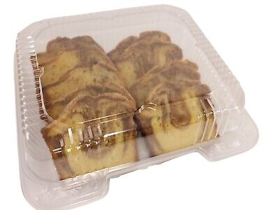 """Handi-Foil 8"""" x 8"""" x 3.5"""" Clear Plastic Hinged Bakery/Food Container #CPC-895"""