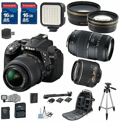 Nikon D5300 DX Digital SLR Camera with 18-55mm VR II + Tamron 70-300mm Zoom Lens