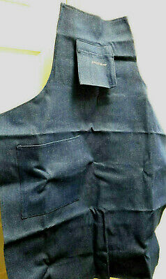Professional Blue Denim Work Machinist Tool & Die Maker Apron, LS500, DD
