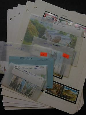 JERSEY : Beautiful collection. All Very Fine, MNH. Topicals. Scott Catalog $180.