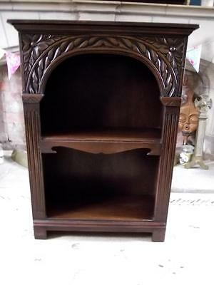 Stunning Oak Carved Detail Bookcase/Unit Small Proportions Titchmarsh & Goodwin