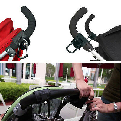2X Carabiner Buggy Shopping Stroller Bag Handle Grab Hook Clip Holder Hooks New