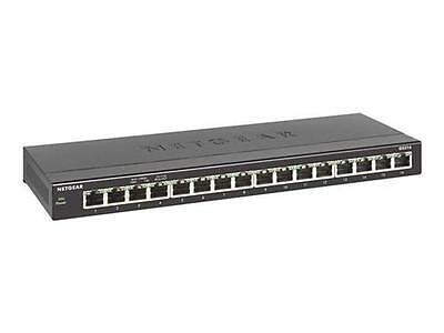 Switch Netgear Gigabit ethernet switch a 16 porte GS316-100PES