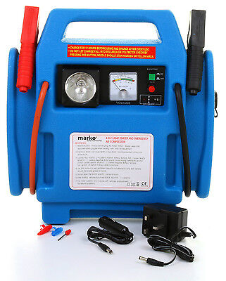 Heavy Duty 12V Car Battery Charger Jump Starter Air Compressor Booster Leads