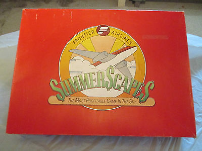 Rare 1983 Summerscapes Aviation Board Game, By Frontier Airlines. A+ Condition!