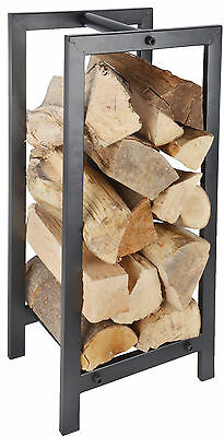 New Large Metal Wood Log Storage Carrier Stove Fireside Accessory Log Store