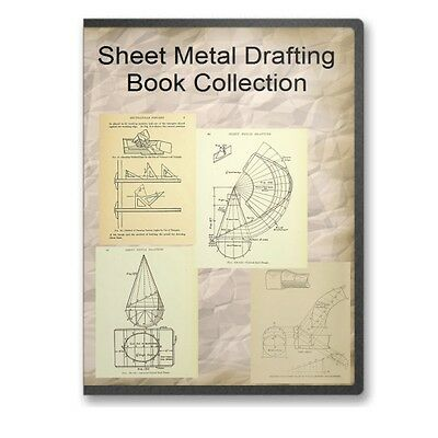 Sheet Metal Drafting, Pattern Drafting, Mechanical Drafting Books on CD B567