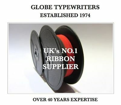 1 x EVEREST 92 *BLACK/RED* TOP QUALITY *10 METRE* TYPEWRITER RIBBON-TWIN SPOOL