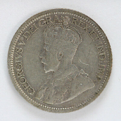 1914 Canada Silver 10 Cent George V Km23 - 91899h