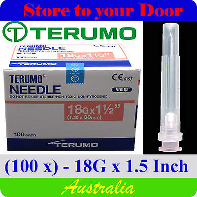 (100) 18G x 1.5 Inch Terumo Needles / Medical Hypodermic Syringe Tips - Sharps