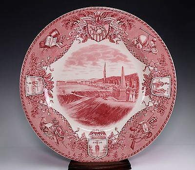 Wedgwood West Point 1831 Military Academy Red Dinner Plate