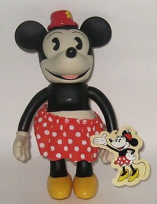 Retired Disney Fully Jointed Pie Cut Eye Minnie Mouse NWT Schylling Vinyl Doll