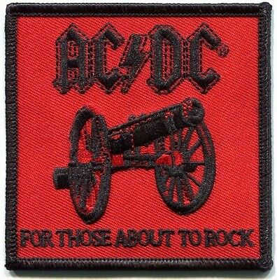 AC/DC for those about to rock EMBROIDERED IRON-ON PATCH Official Licensed -p3189