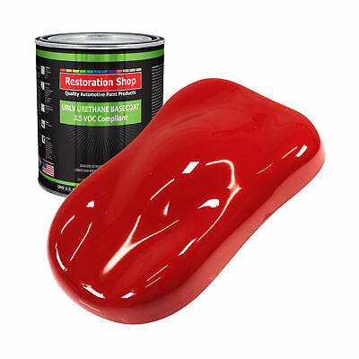RALLY Red 1 Gallon Low VOC URETHANE BASECOAT Car Auto Body Paint