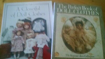 2 Doll Clothing Making Patttern Books New designs or Old Fashoned